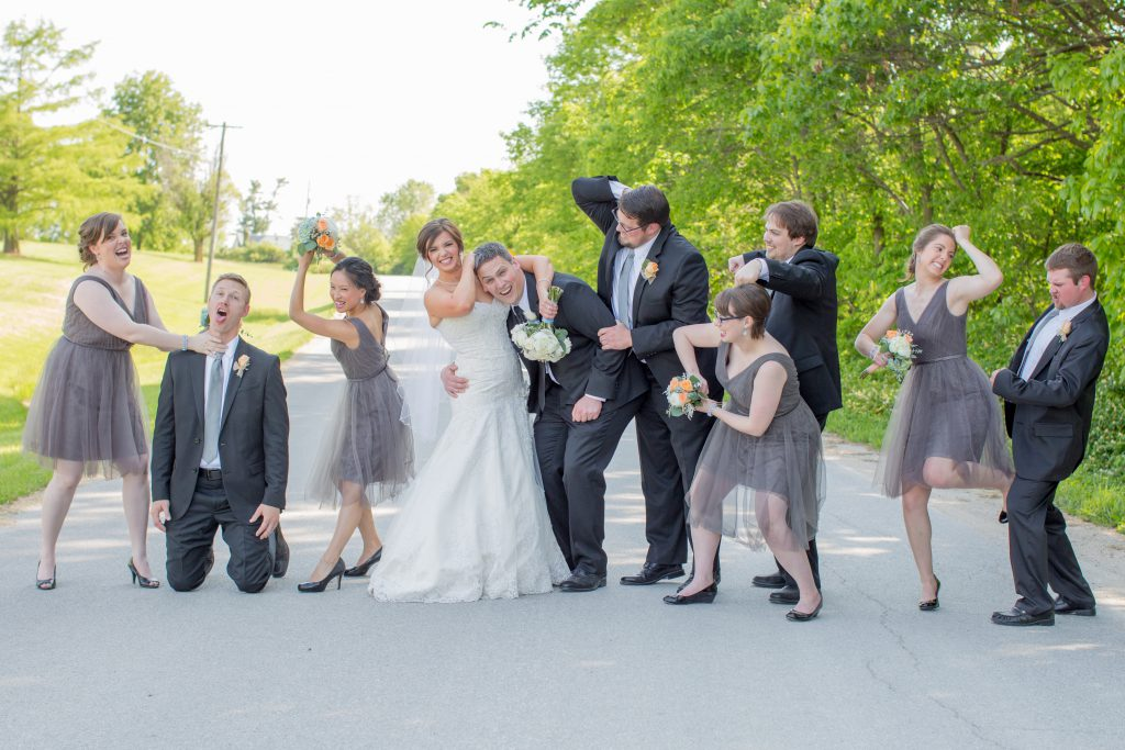 Our crazy fun wedding party. Professional Wedding Photography by Creative Concepts Photography