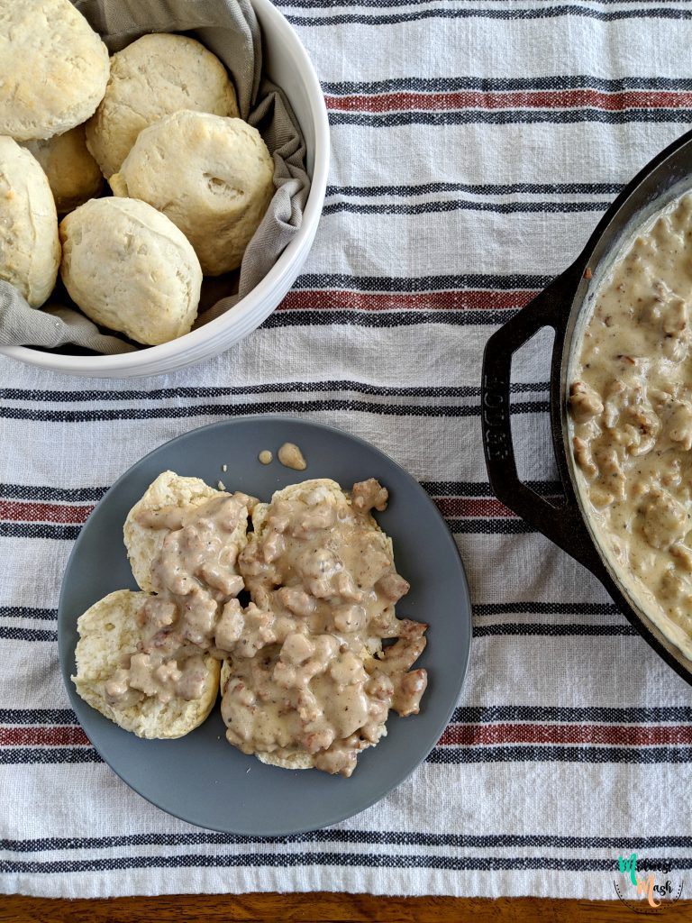Old Fashioned Biscuits And Gravy